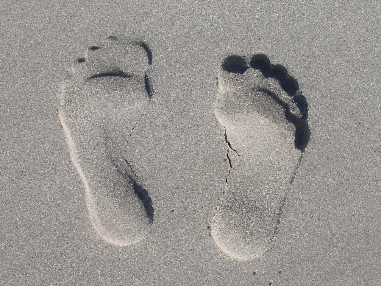 sand, reprint, feet
